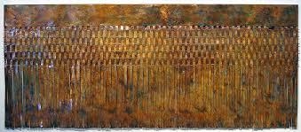 on waterfall metal wall art with woven metal wall art waterfalls triangles woven metal art wall