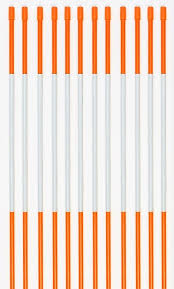 driveway markers pro snow stakes reflective 4 ft 5 16 orange 100 pack