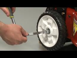 toro lawn mower wheel replacement repair 115 4695