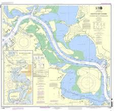 Texas Gulf Coast Water Depth Chart Noaa Nautical Chart 11329 Houston Ship Channel Alexander Island To Carpenters Bayou San Jacinto And Old Rivers