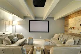 basement furniture ideas. Home Theater - Mid-sized Transitional Carpeted Home Idea In Atlanta  With Multicolored Walls Basement Furniture Ideas R