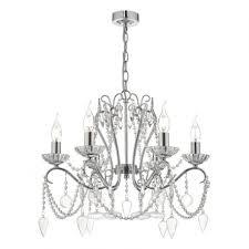 nulara 6lt chandelier polished chrome crystal