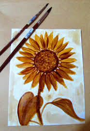 773 free images of coffee cake. Sunflower Coffee Painting
