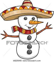 holiday snowman clip art.  Holiday Sombrero Christmas Holiday Snowman Vector Illustration Art To Clip Art T