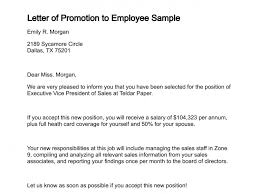 Letter Of Employment Sample Template Wonderful Letter Of Promotion