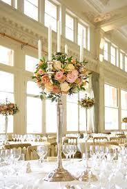 candelabra flower centerpiece