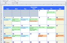 Excel Blank Workout Schedule Template Calendar Companying Annual ...