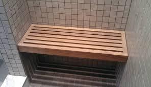 teak grain kerdi shower wall family steam folding accessible dimensions mount designs s cove bench handicap