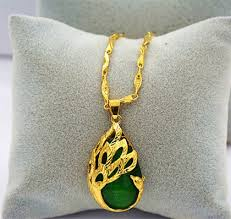 gold and jade necklace chain lordtrader