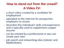 6 video resume sample