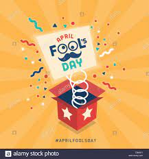 April fool's day design with explosive prank box and confetti Stock Vector  Image & Art - Alamy