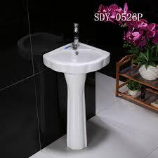 corner pedestal sink. Unique Pedestal Ceramic Bathroom Small Size Pedestal Basin Corner Sink Intended Corner Pedestal Sink