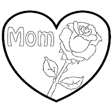 Flowers And Hearts Drawing At Free For Personal Spring Coloring