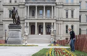 capitol flower planting day at the capitol is underway