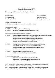Resume Statements Examples Sample Professional Resume