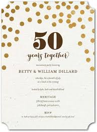 cheers for 50 years gold anniversary party invitations printed on wedding anniversary invitations
