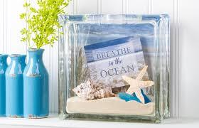 beach diy glass block