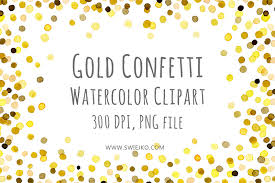 black and gold frame png. Gold Confetti Cliparts #2843215 Black And Frame Png