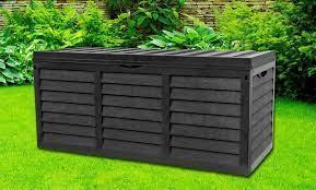 garden storage box with lid