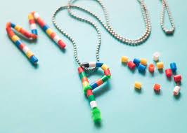 diy letter beaded pendants for kids