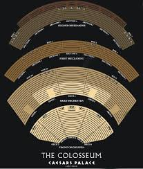 Second Stage Seating Chart The Colosseum At Caesars Palace Seating Chart Home The