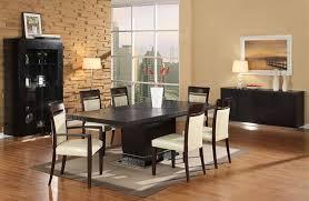 Wenge Living Room Furniture Wenge Matte Finish Modern Dining Room W Pedestal Base Table