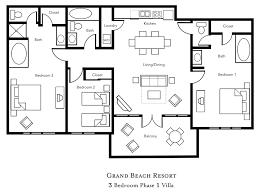 2 3 bedroom resorts orlando. accommodations. select unit type. 3 bedroom. view floor plan 2 bedroom resorts orlando