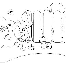 Small Picture Blues Clues Playing In The Garden Blues clues Coloring Pages