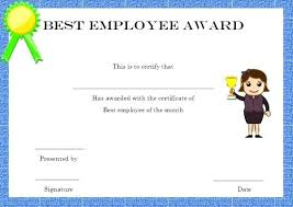 Certificates Funny Free Employee Of The Month Awards Certificate Templates Best