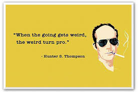 quotes about writing from hunter s thompson articles home