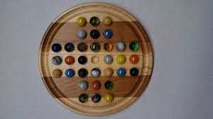 Wooden Game With Marbles Hand crafted 100 Marble Solitaire game Wooden Games Pinterest 21