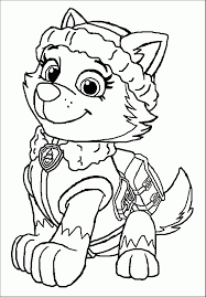 Skye Paw Patrol Coloring Pages Top 10 Paw Patrol Coloring Pages Of