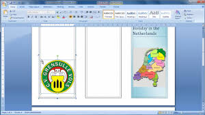 How To Do A Brochure On Microsoft Word 2007 Make A Brochure From Scratch In Word 2007 Youtube