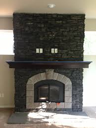 El Dorado stone: Stacked Stone/Black River with Smoke/Chiseled Edge hearth