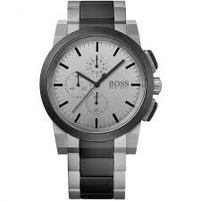 buy the men s hugo boss 1512959 watch francis gaye jewellers hugo boss men s two tone grey dial chronograph watch 1512959