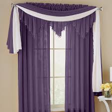 windows sheer curtains photos crushed voile rod pocket panel scarf valance