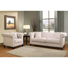 Ivory Living Room Furniture Abbyson Living Malika Velvet Sofa And Armchair Set Ivory Bjs