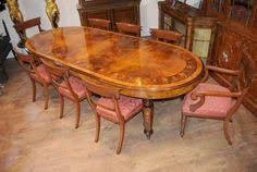 e view this for yourself in our hertfordshire showroom gorgeous victorian style burr walnut dining table with matching set of william ivstyle chairs