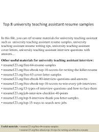 Teaching Assistant Resume Top10000universityteachingassistantresumesamples10000lva100app6100009100thumbnail100jpgcb=1001003100100710010035 48