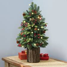 Small Artificial Pine Trees | Tabletop Christmas Tree | 3 Foot Pre Lit  Artificial Christmas Tree