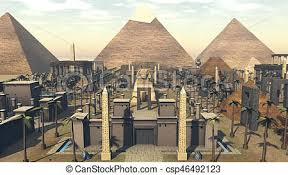 famous ancient architecture. Ancient Architecture In A City Of Egypt. 3D Rendering - Csp46492123 Famous Ancient T
