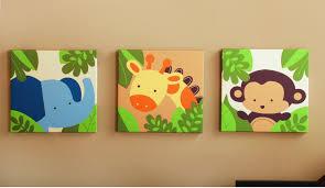 jungle theme nursery wall art