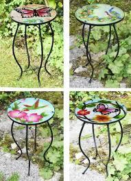 iron glass round mosaic design table
