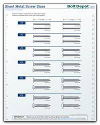 Sheet Metal Screw Size Chart In 2019 Woodworking Projects
