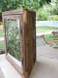 Wood Medicine Cabinet With Mirror Hand Made Wooden Corner Medicine Cabinet With Mirror By