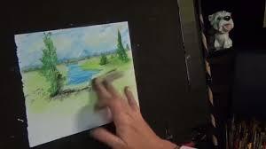 morning lake acrylic painting prep how to plan a painting acrylic landscape painting lesson