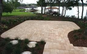 orlando brick pavers. Simple Brick Paver Patio  With Orlando Brick Pavers