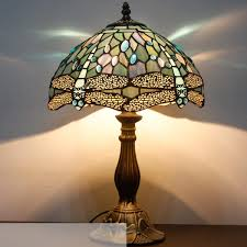 Dragonfly Crystal Stained Glass Lamp Ships Only In Usaau