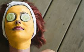 exfoliating turmeric hair removal face mask