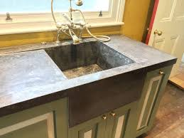 kensal green seamless polished concrete worktop with integral concrete sink traditional kitchen london by conscious forms